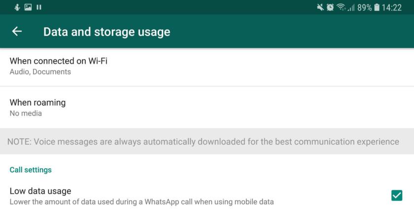Data settings in WhatsApp - whatsapp tricks