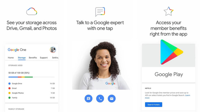 Google one functions