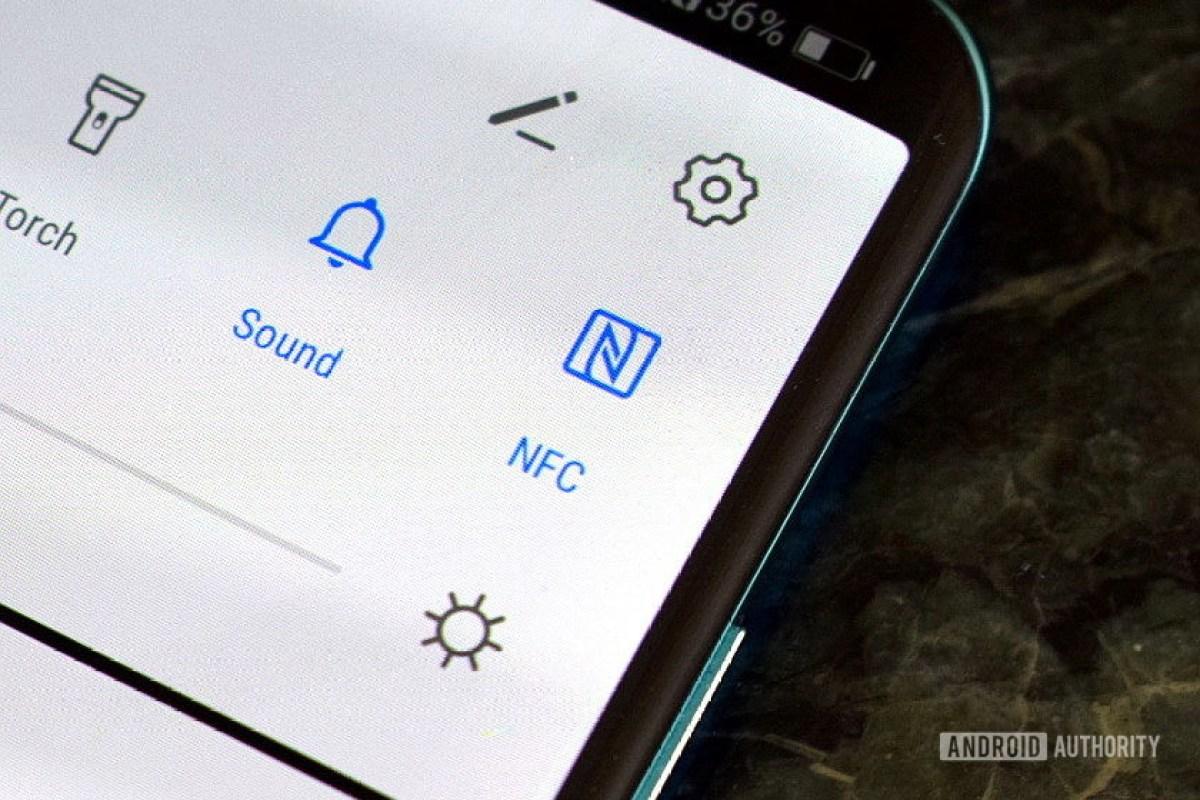 Кнопка NFC для Android меню