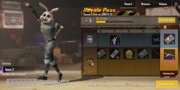 PUBG Mobile dance emote Royale Pass
