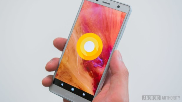 The front of the Sony Xperia XZ2 Compact.
