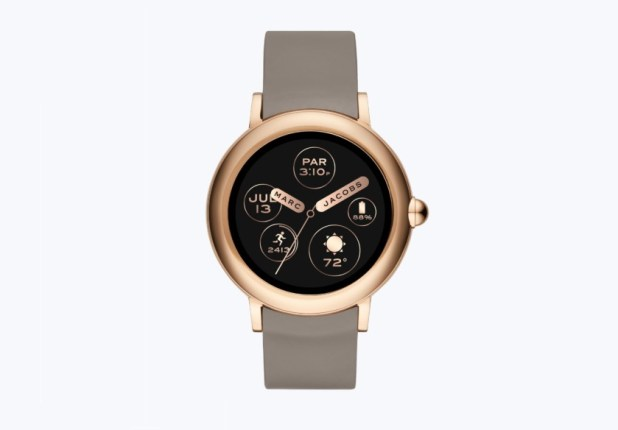 Marc Jacobs Riley smartwatch render from the front.