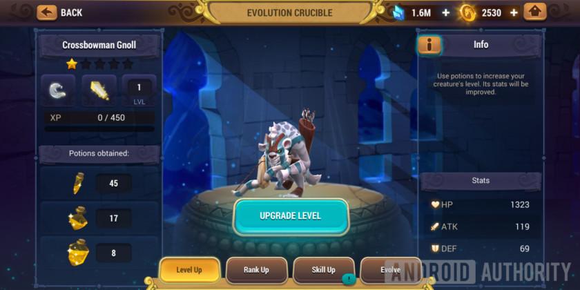 might & magic elemental guardians level up potion