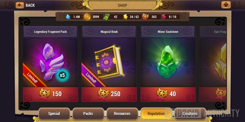 might & magic elemental guardians reputation store magic book