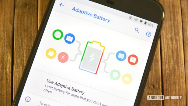 The Adaptive Battery menu in Android Pie.