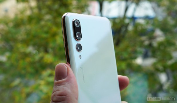 The Huawei P20 Pro in pearl white.