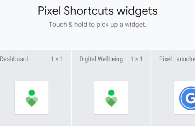 A screenshot of the Pixel Shortcuts app interface.