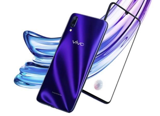 An image of the front and back of a Vivo X23 smartphone.