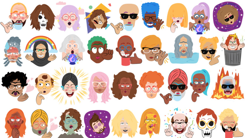 Google Mini Selfie Stickers