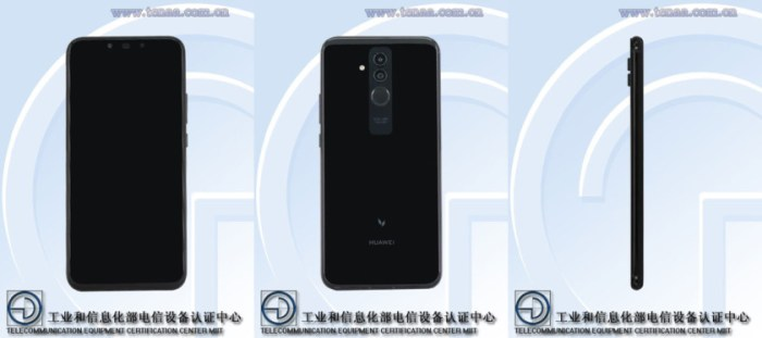 A render of what appears to be the Mate 20 Lite.