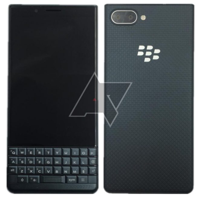 A leaked image of the BlackBerry Key2 LE.
