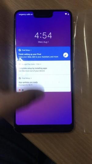 Google Pixel 3 XL lock screen