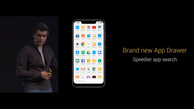 The app drawer in the Pocophone F1.