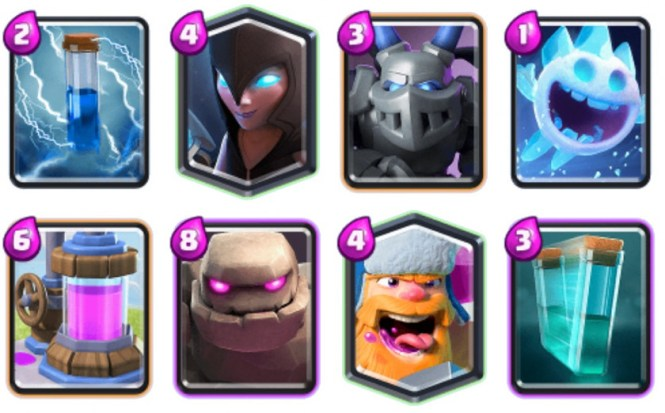 Adrian Night Witch Golem Clash Royale deck
