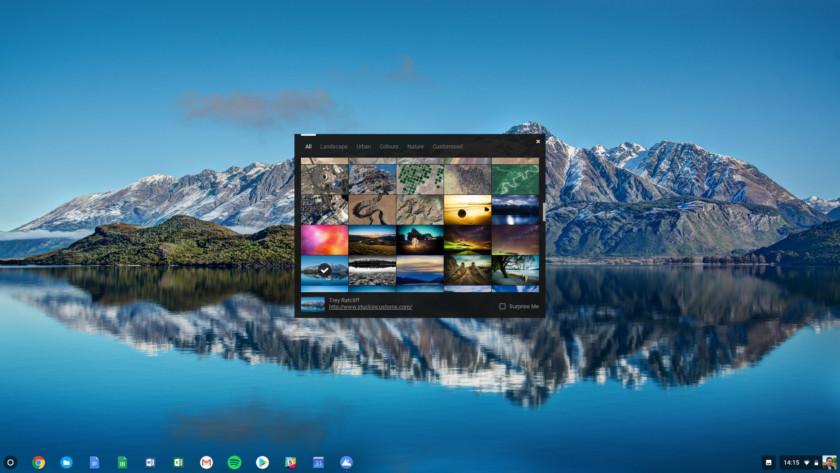 Обои Chromebook - как сменить обои на Chromebook