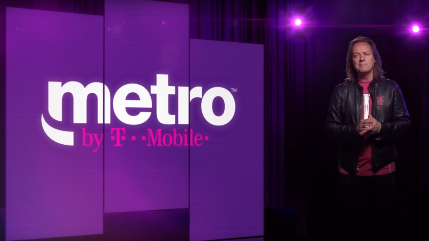 An image of T-Mobile CEO John Legere announcing the new Metro by T-Mobile brand.