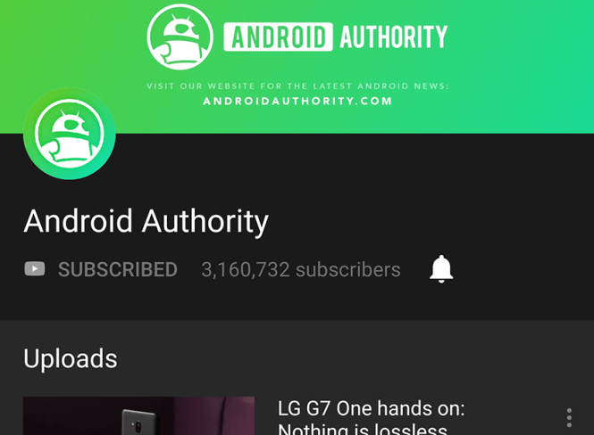 A screenshot of YouTube dark mode in action on an Android smartphone.