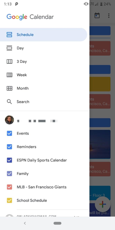 New Google Calendar Material Theme