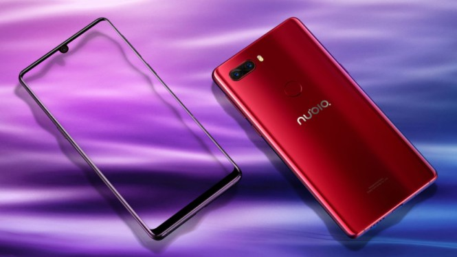 The Nubia Z18 in red.