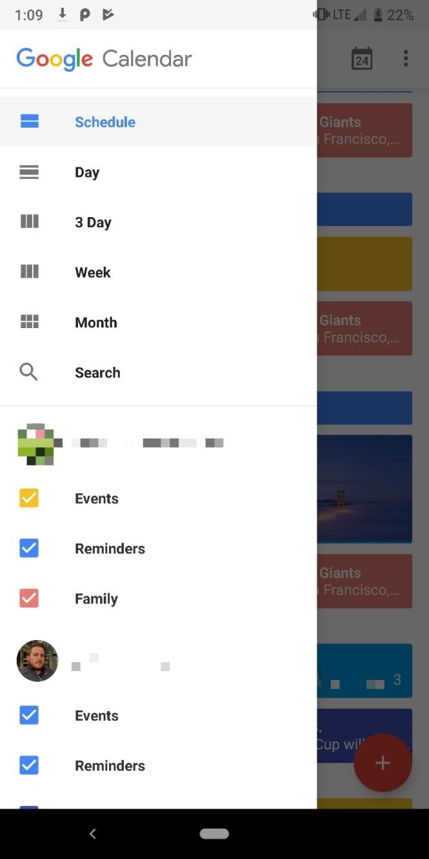Old Google Calendar Material Theme