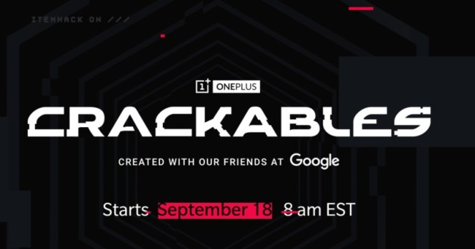 crackables teaser screen on oneplus site