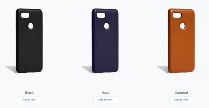 A promotional image of the Bellroy Leather Case for Google Pixel 3.