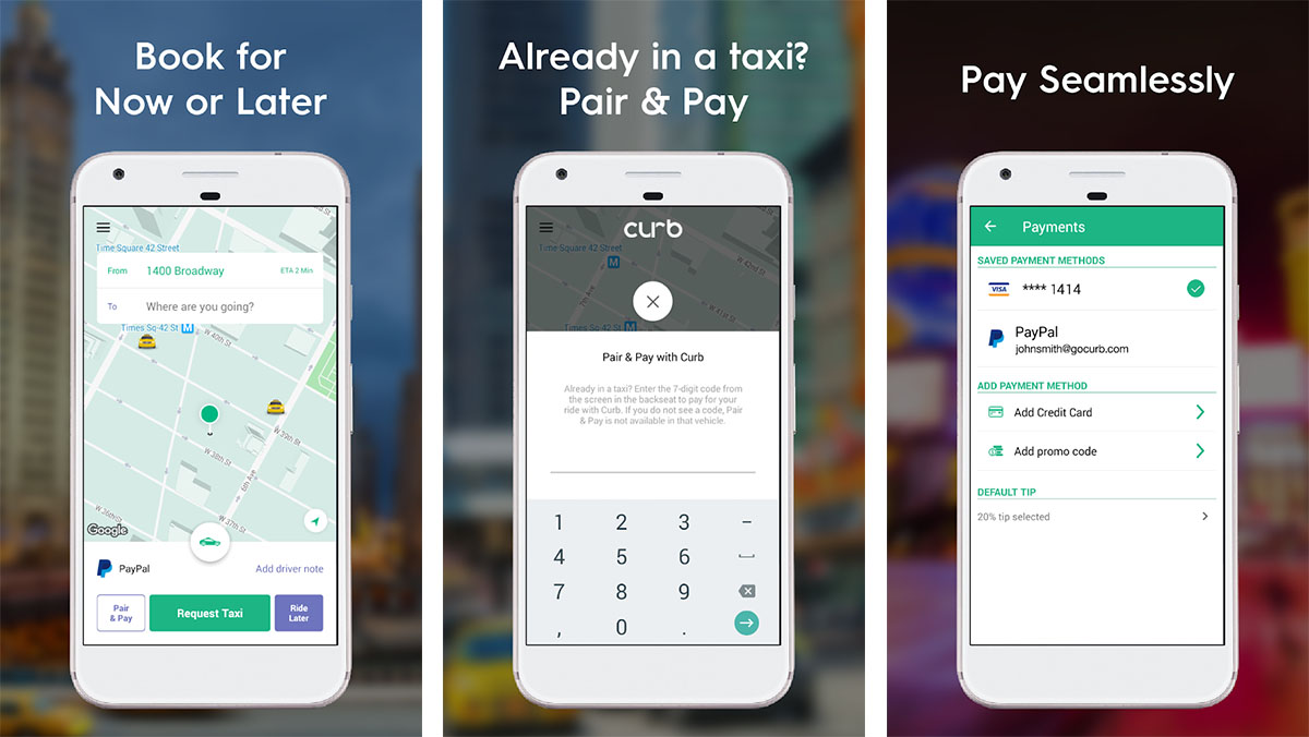 Curb is one of the best taxi apps