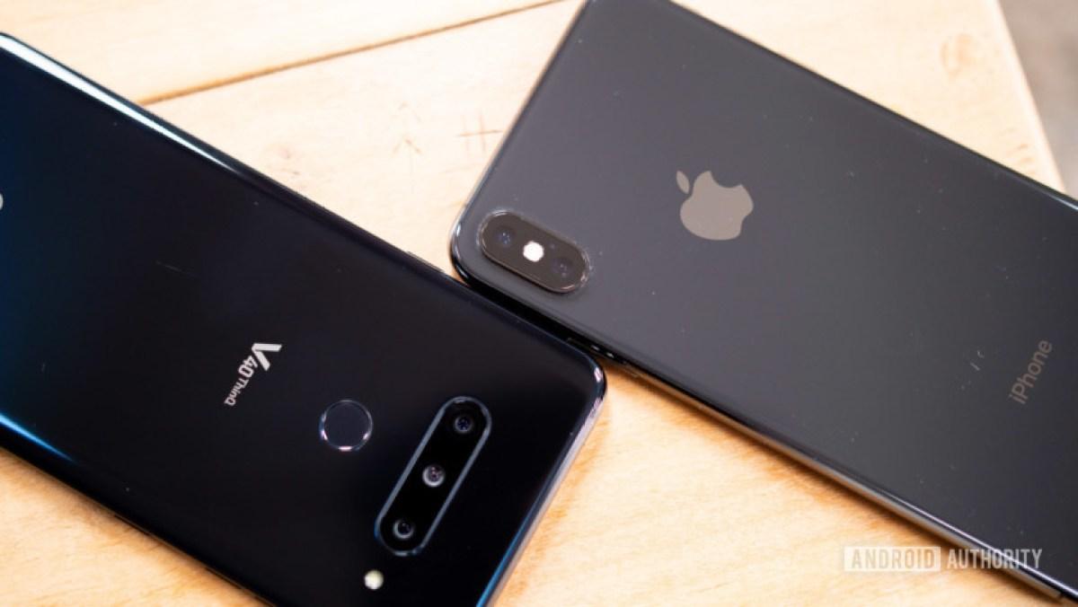 Как переключиться с iphone на Android - телефон LG и iPhone бок о бок