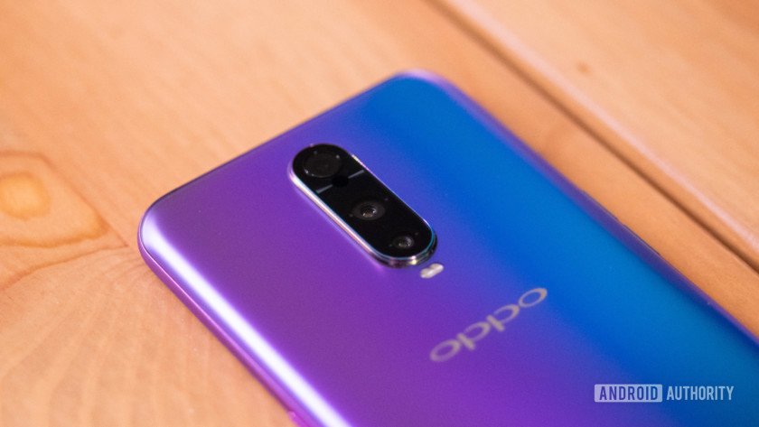 The back of the Oppo R17 Pro