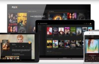 An image of various devices viewing Plex web shows content.