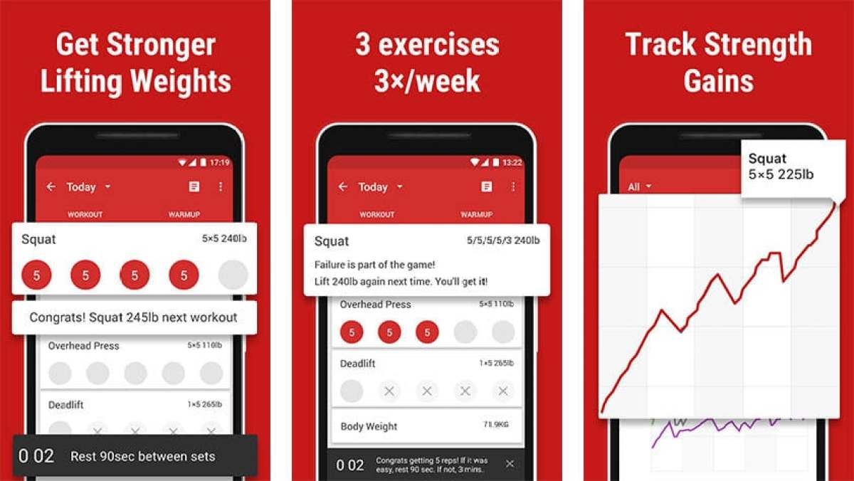 Stronglifts 5x5 - best workout apps