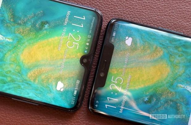 Huawei Mate 20 vs Mate 20 Pro notch