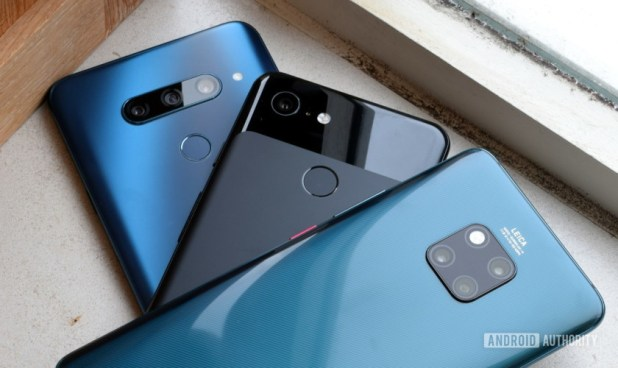 LG V40 vs Google Pixel 3 vs Huawei Mate 20 Pro AI Camera