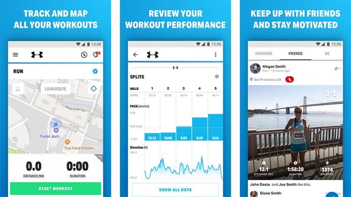 Map My Run - best running apps for android