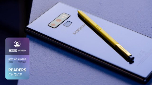 Samsung Galaxy Note 9 Best of Android 2018 Reader's Choice