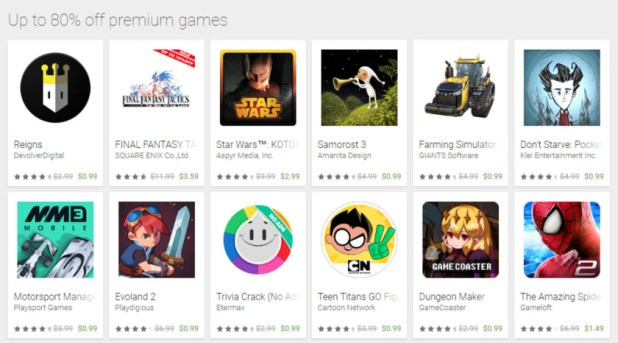 google play store cyber week games