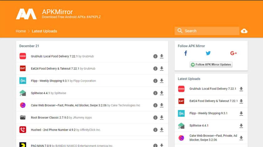 APKMirror - las mejores tiendas de aplicaciones