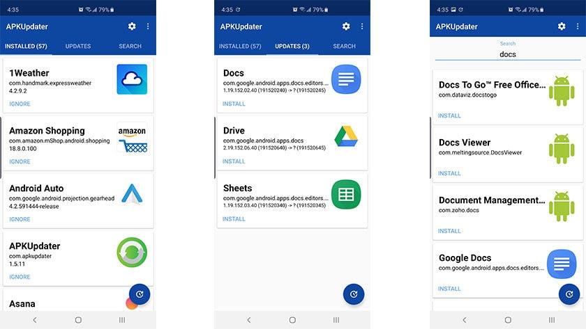 APKUpdater es una de las mejores tiendas de aplicaciones de terceros para Android