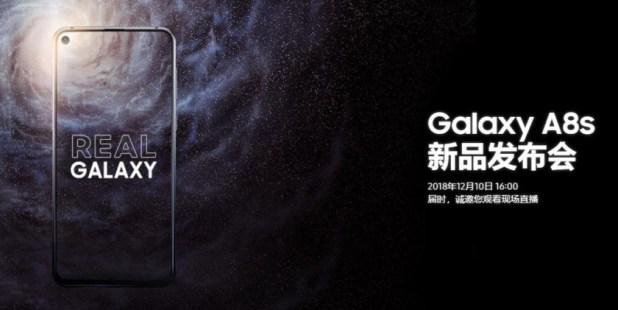 The Samsung Galaxy A8s.