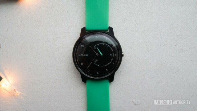 withings move review green on table