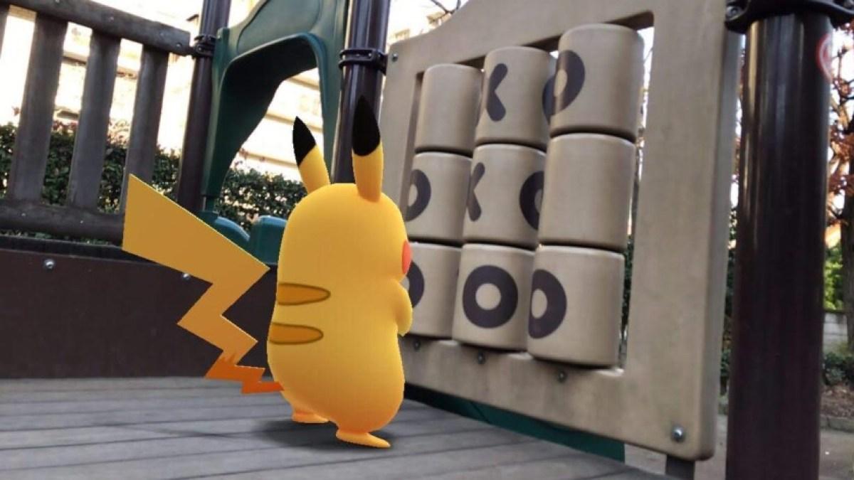 Это фотография Пикачу на игровой площадке для лучших калькуляторов Pokemon Go IV для Android.