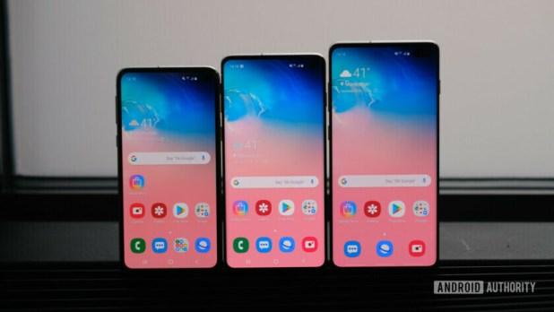 Samsung Galaxy S10e, S10, S10 Plus