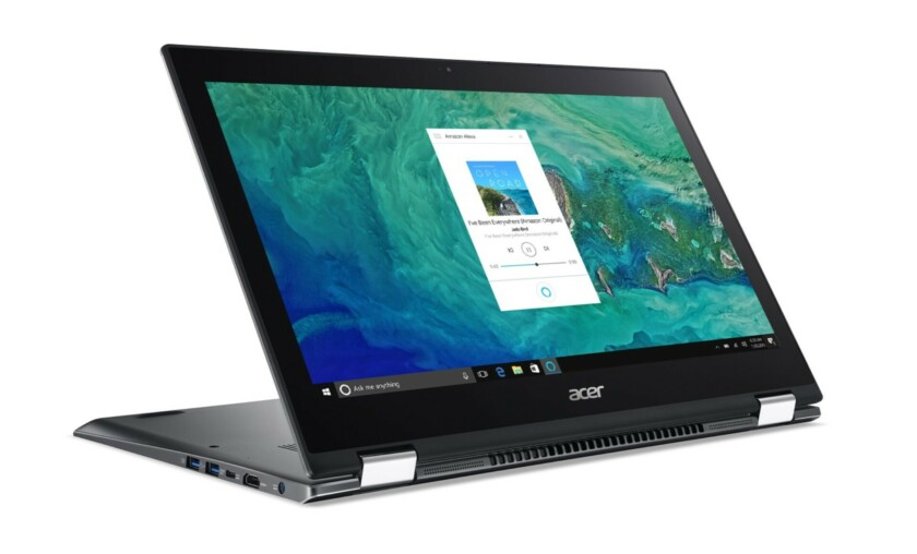 The Acer Spin 5 laptop on Amazon with built-in Alexa support.
