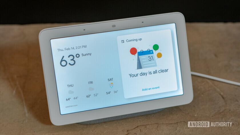 Google Home Hub homescreen