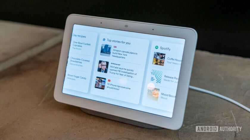 Google Home Hub with Google Feed
