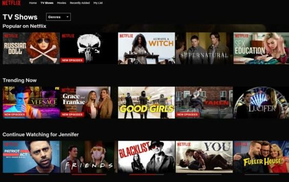 netflix tv show list
