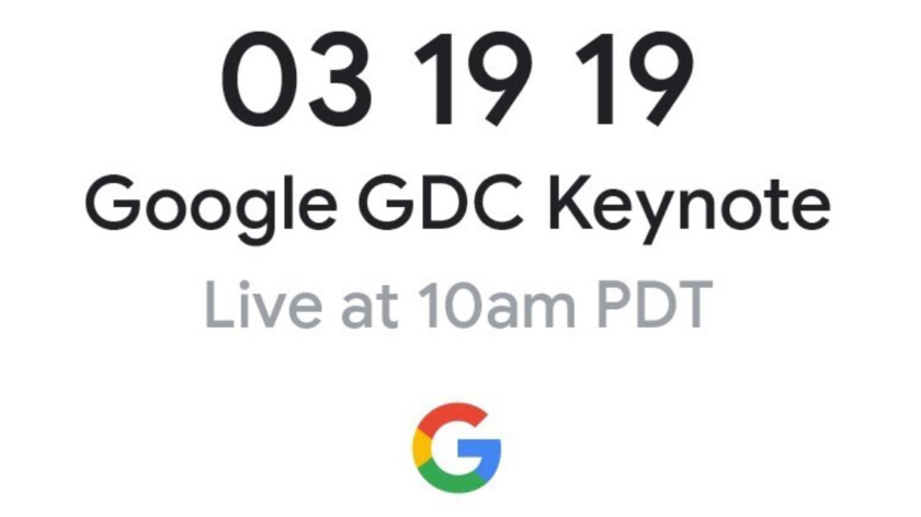 Watch the Google GDC 2019 keynote here today at 1:00 PM ET