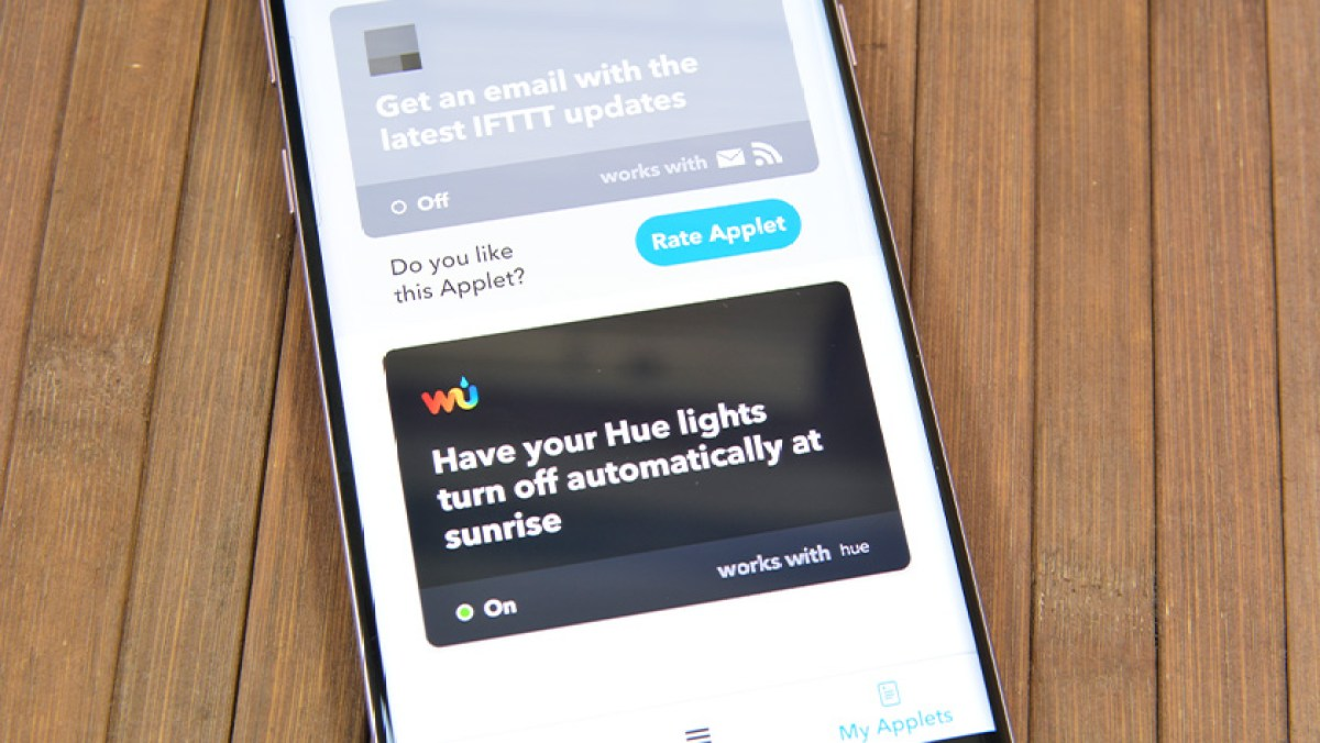 Восход и закат Philips Hue на IFTTTT