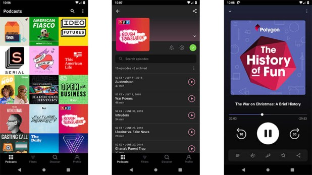 Pocket Casts or Doggcatcher