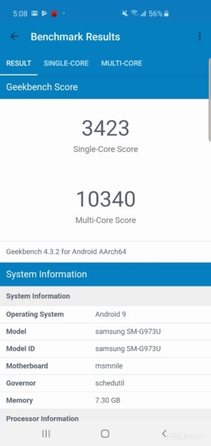 Samsung Galaxy S10 Benchmark Geekbench
